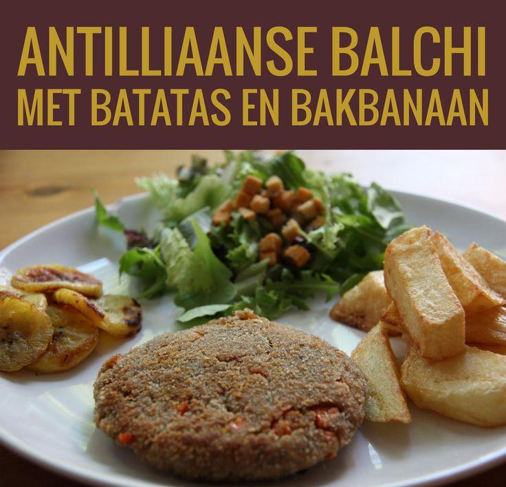 Antilliaanse balchi met batatas en bakbanaan