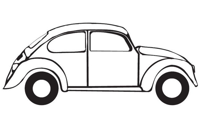 Drawing Of A Vw Bug Voiture Coccinelle Coloriages