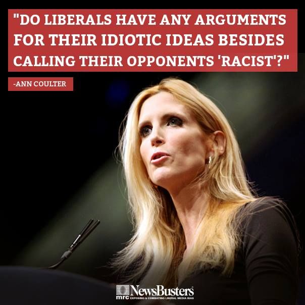 """The two big public policies under attack by the left this week are ""stop-and-frisk"" policing and voter ID laws. Democrats denounce both policies as racist. I'm beginning to suspect they're getting lazy in their arguments."" - Ann Coulter..8/16"