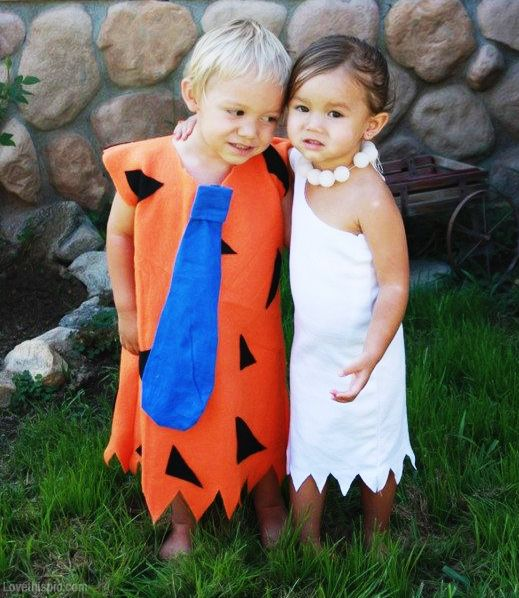 Kids Flinstone's costume. Are'nt they lovely?
