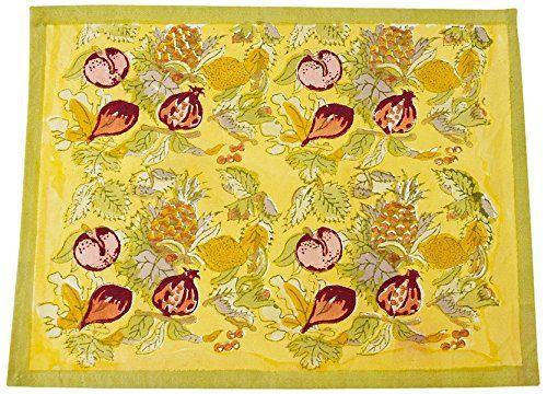 Tutti Frutti Yellow/Green Placemats, Set of 6