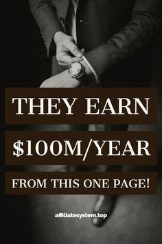 Sie verdienen $ 100M / Jahr von dieser einen Seite! | Affiliate-Marketing | Geld verdienen | Auf…   – Business Ideas