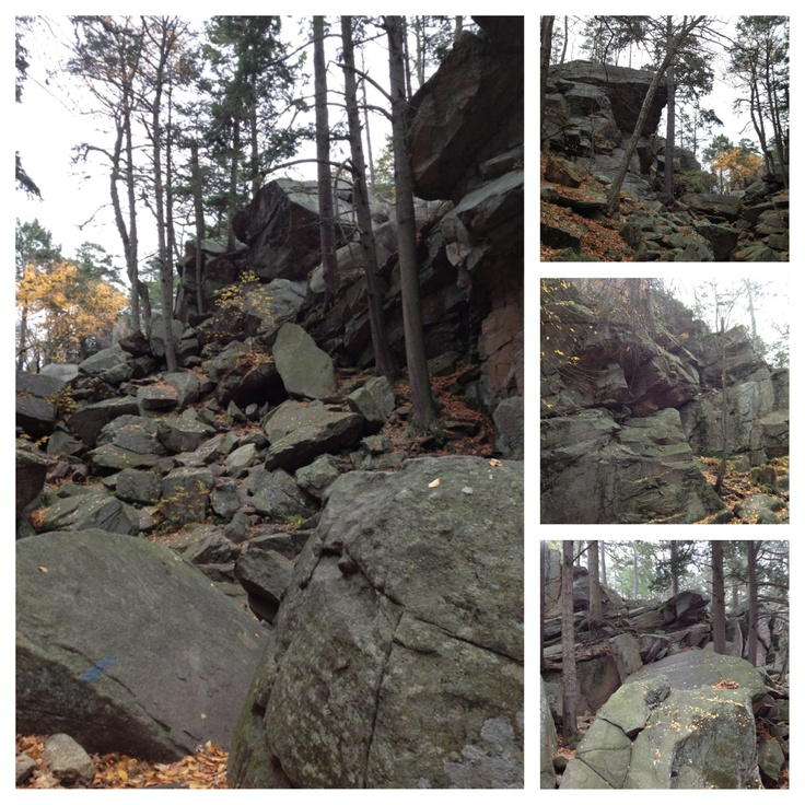 Went to the Purgatory Chasm in Massachusetts the other day. You basically just crawl through rock formations. Very fun.