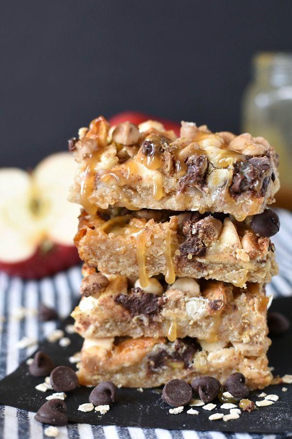 Caramel Apple Crisp Magic Cookie Bars Little Dairy On The Prairie Dessert Bars Recipes Easy Best Cookie Recipes Caramel Apple Crisp