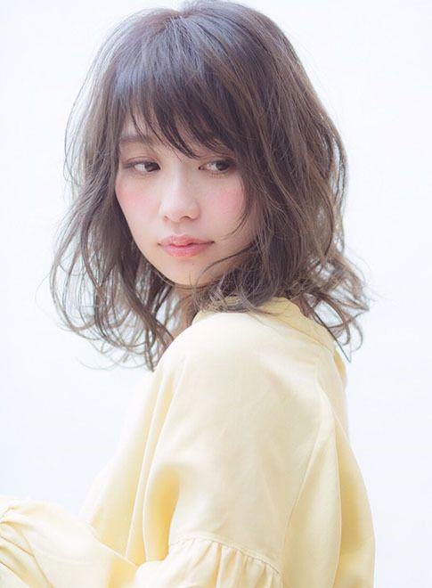 フリンジバンググレージュ☆ 【CANAAN】 http://beautynavi.woman.excite.co.jp/salon/28100?pint ≪ #mediumhair #mediumstyle #mediumhairstyle #hairstyle・ミディアム・ヘアスタイル・髪形・髪型≫