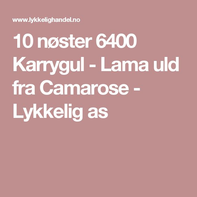 10 nøster 6400 Karrygul - Lama uld fra Camarose - Lykkelig as