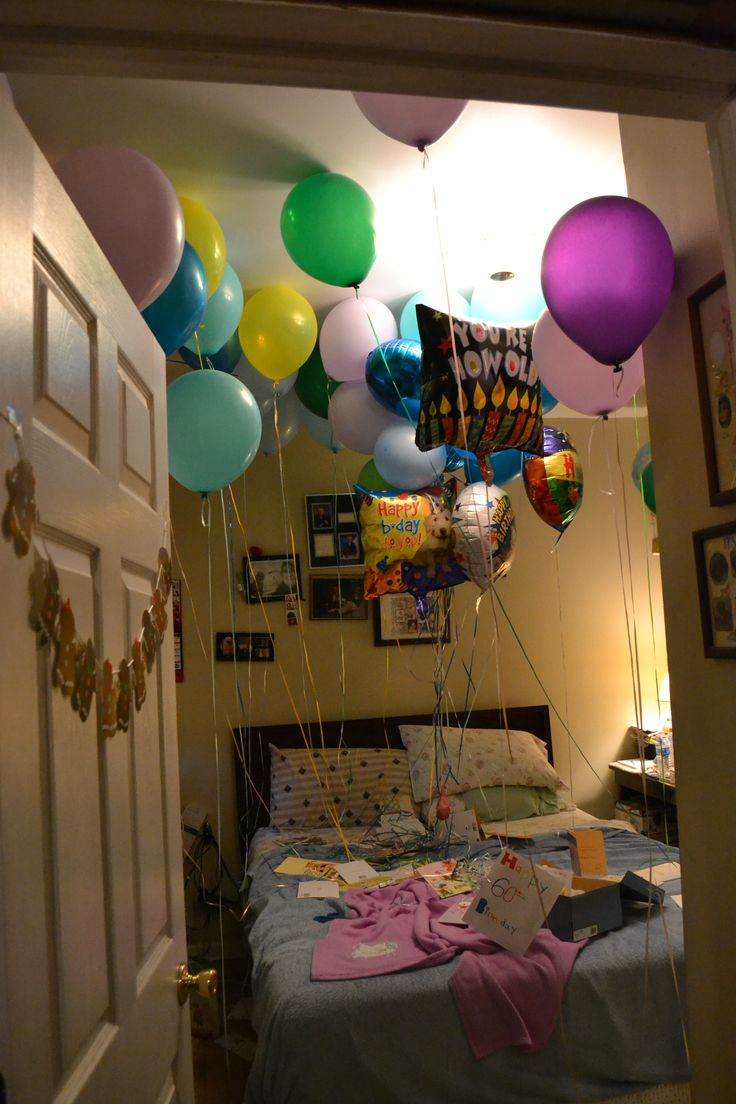 31 best surprise birthday party for mamaw 39 s big 6 0 images on pinterest anniversary ideas - Bedroom decorating with balloons ...