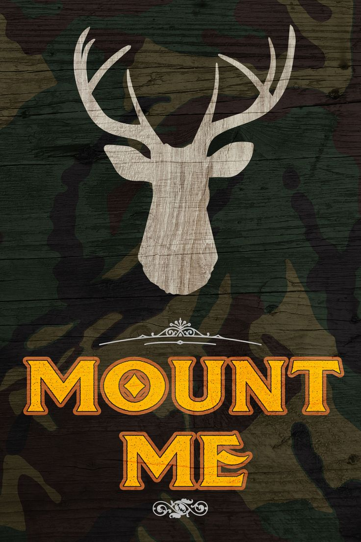 If you're into hunting and want some decoration, this sign is perfect for you! A sign that supports you and your family's love for the the activity! A green camo background with an illustration of a b