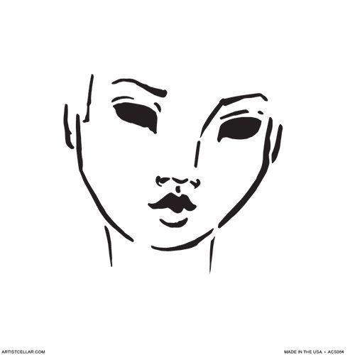 Jane Girls Petite Series: Face Stencils from Jane Davenport | InterweaveStore.com