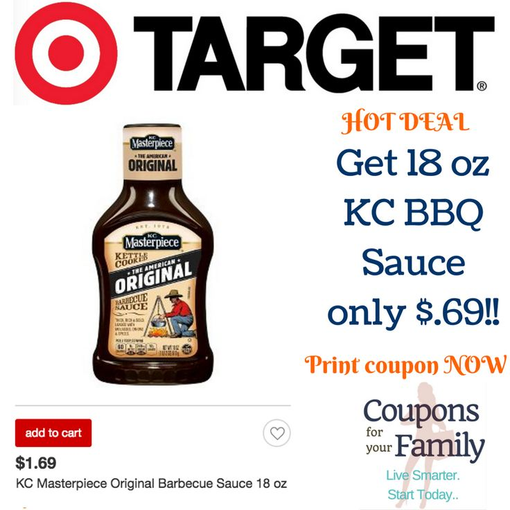 Get KC BBQ Sauce for only $.69 at Target ~~Hurry & print coupon! - http://www.couponsforyourfamily.com/get-69-kc-bbq-sauce-target-hurry-print-coupon/