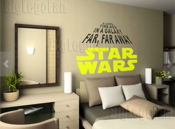 The Star Wars nerd inside me is going crazy with this, bedroom decoration ideas