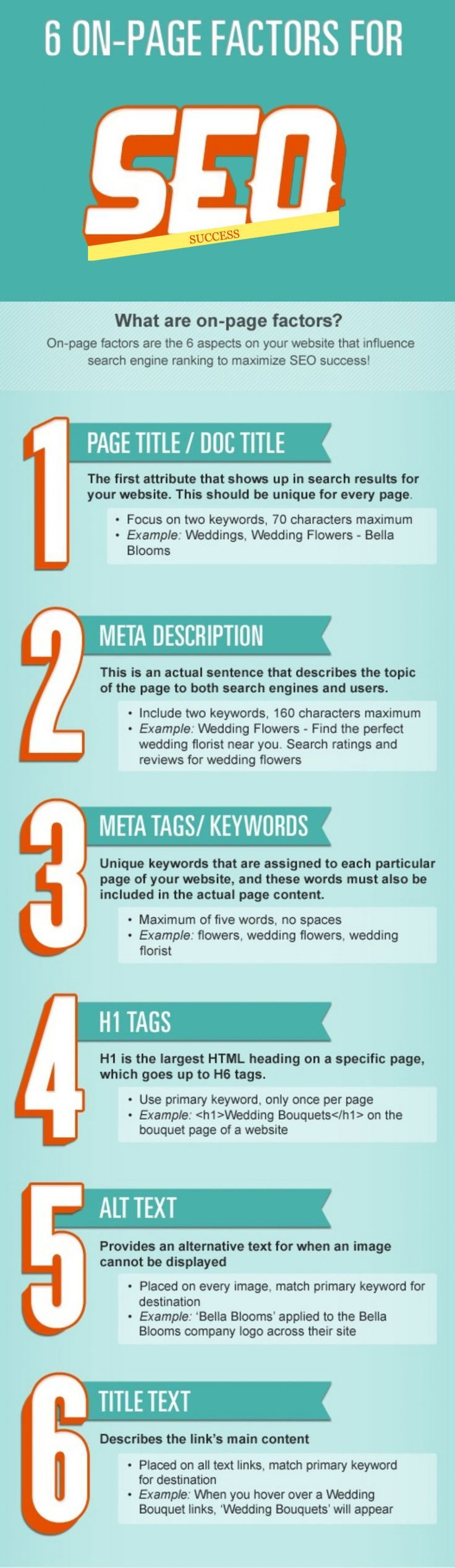 6 On-Page Factors For #SEO #Infographic