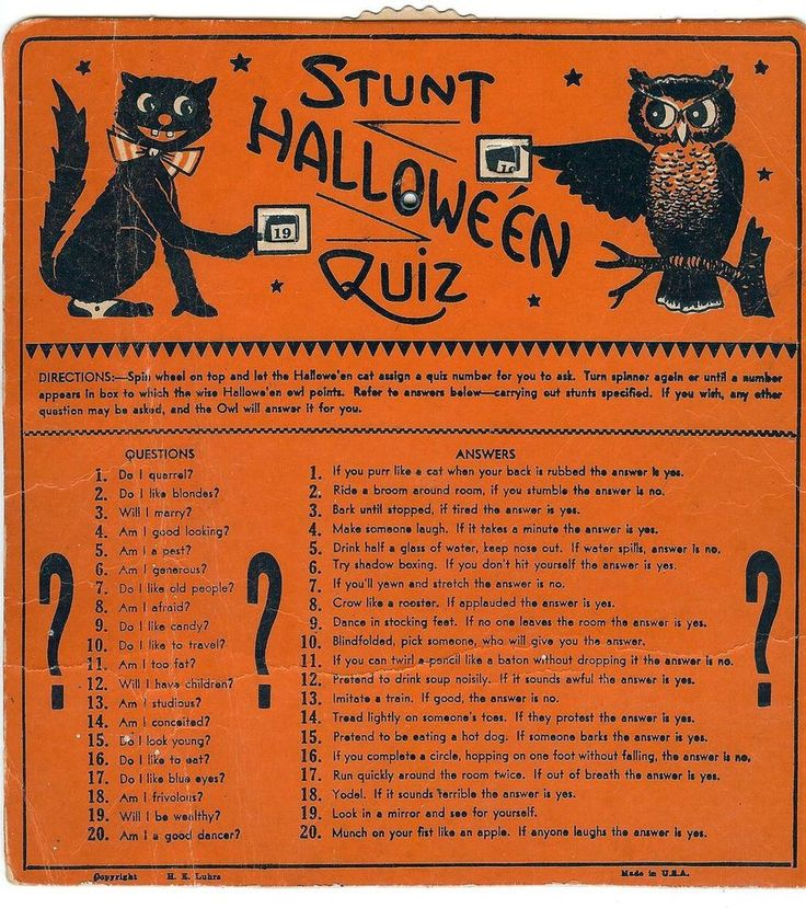 stunt halloween quiz halloween game usa beistle he luhrs mark fun times - Halloween Quiz For Kids