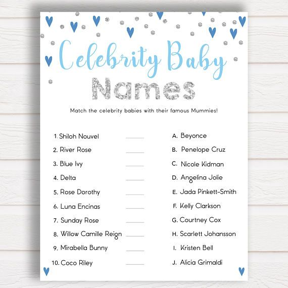 Blue Celebrity Baby Names Match Celebrity Babies Famous Babies Game Boy Baby Shower Games Guess The Celebrity Baby Famous Baby Game Celebrity Baby Names Boy Baby Shower Games Famous Babies
