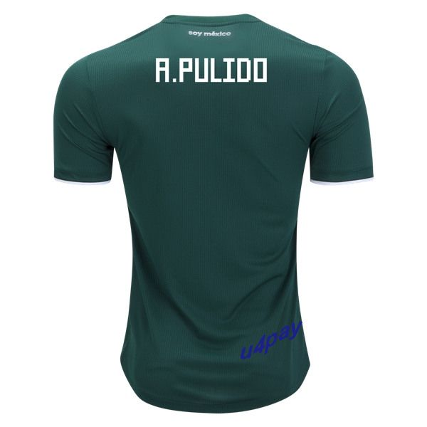 Alan Pulido 2018 FIFA World Cup Mexico Home Soccer Jersey