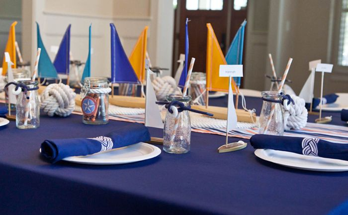 Nautical Guest Dessert Feature | Amy Atlas Events