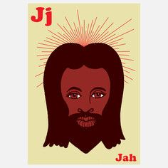 J is for Jah,  Limited Edition Prints by Mark McGinnis, Signed and Numbered