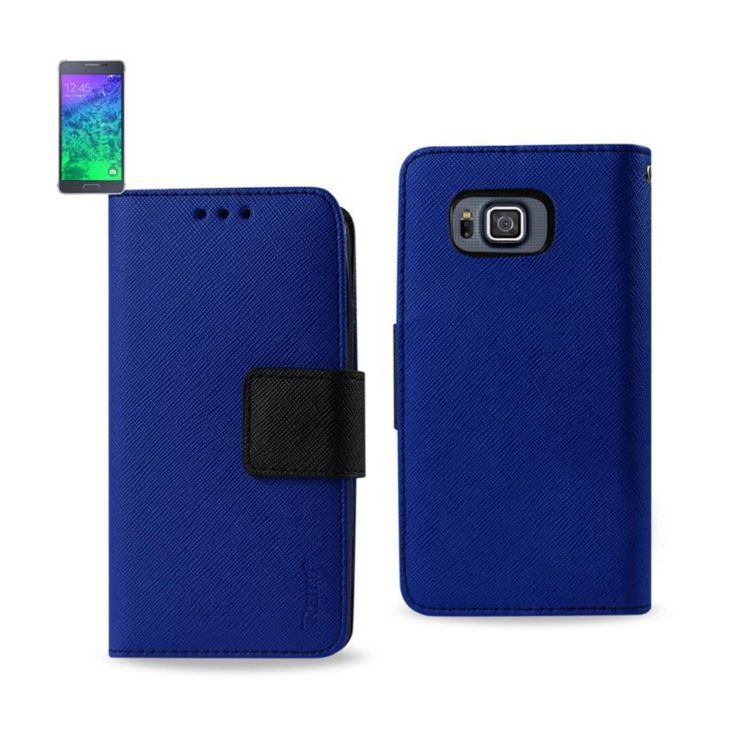 Reiko Samsung Galaxy Alpha 3-In-1 Wallet Case In Navy //Price: $18.99 & FREE Shipping //     #mobileaccessories #phonecases