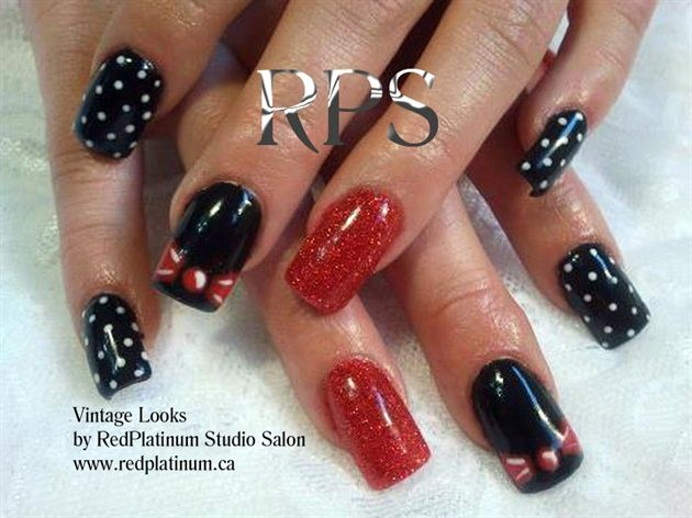 Vintage Styles by RedPlatinum - Nail Art Gallery nailartgallery.nailsmag.com by Nails Magazine www.nailsmag.com #nailart