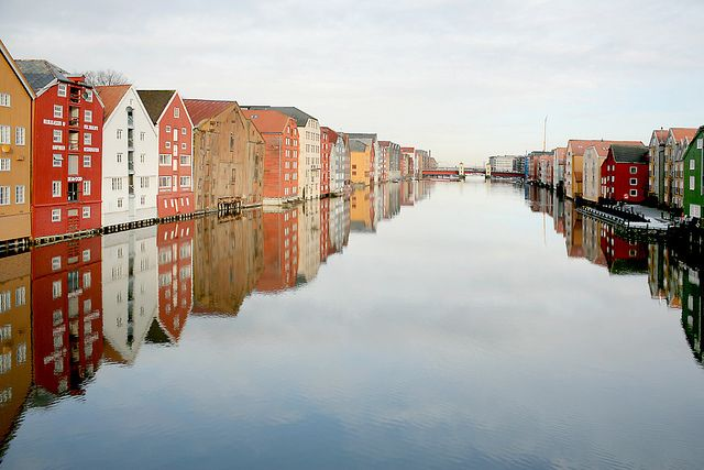 Bakklandet  Nidelven river in Trondheim, Norway. I'd love to go back to Norway...