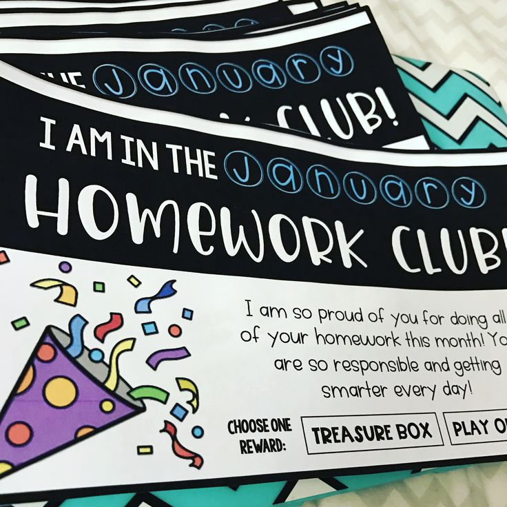 Tired of kids not bringing their homework back?? Join the Homework Club!!! Kids will be EXCITED to do and return their homework!