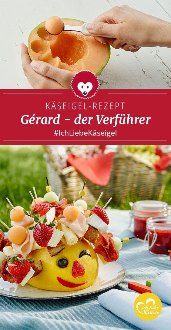 Gérard: fruchtiger Käseigel mit Erdbeeren und Géramont Gérard – die verführerischste Begleitung, die man sich für ein Picknick wünschen kann.