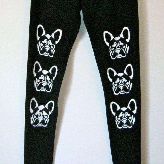 SALES15%OFF Black PLUS size leggings  Bulldogs  by COOLLeggings