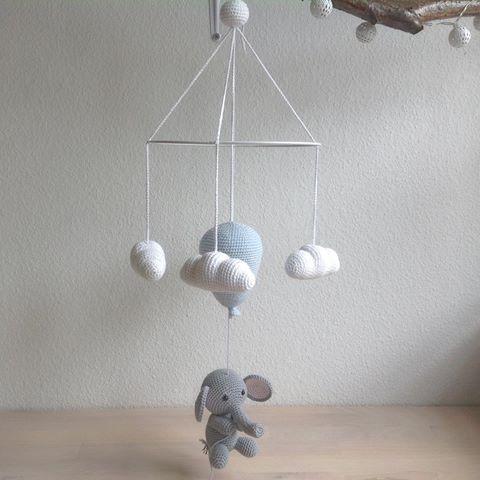 Billedresultat for hæklet elefant med ballon