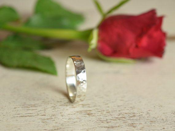 #MensRingBand #WeddingBand #WeddingRing #HammeredSilverRing #SilverBand #MensBand #TexturedRingBand #HammeredRing #MensHammeredRing #SterlingSilverRing
