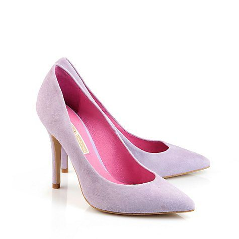 edle pumps von buffalo aus pastell lila farbenem veloursleder in spitzer form mit highheel und. Black Bedroom Furniture Sets. Home Design Ideas