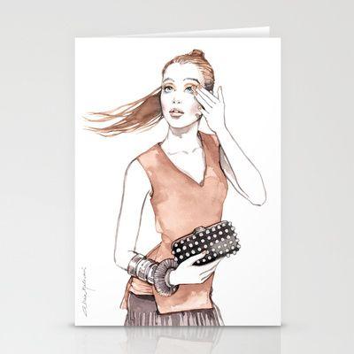 Silke Stationery Cards by Alicia Malesani - $12.00