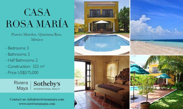 Casa Rosa María   Puerto Morelos, Quintana Roo, Mexico   Sotheby's International Realty Mexico #realestate #mexico