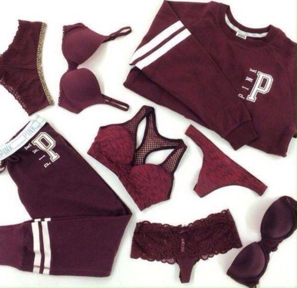 jacket jumper angel warm bra ootd knickers thong sports bra bandeau victoria's secret burgundy sweater style
