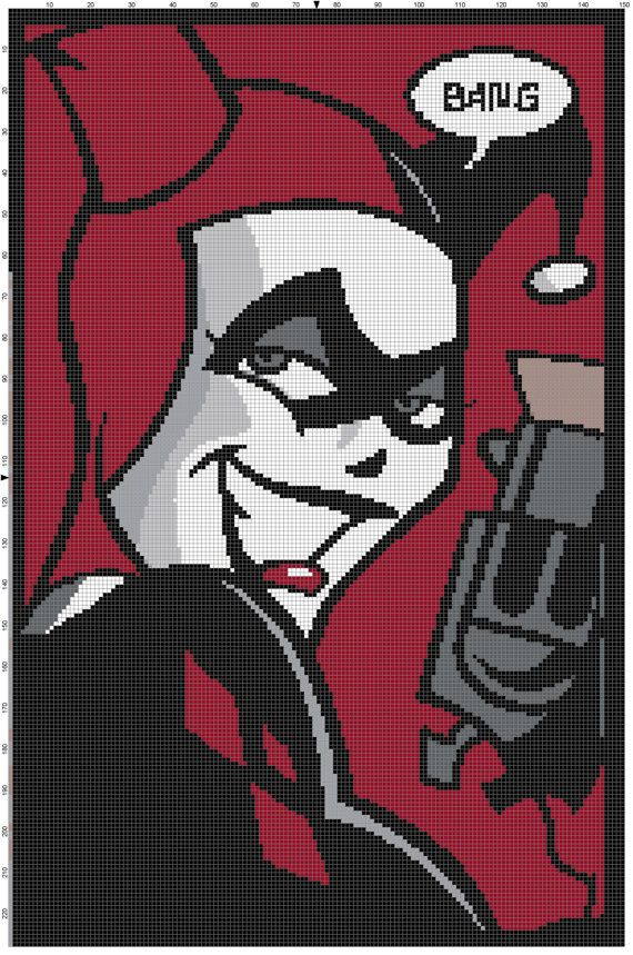 Harley Quinn PDf by CrossStitchGraphghan on Etsy