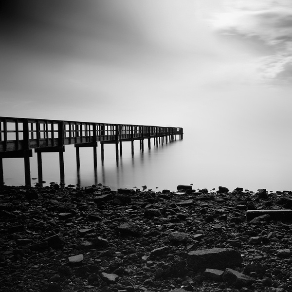 breathtaking.: Photography Office, Favorite Places, Black And White, Pier, White Photos, Photography Genuis, Minimalist Photography, Fog Photographer, Photographer Nathan