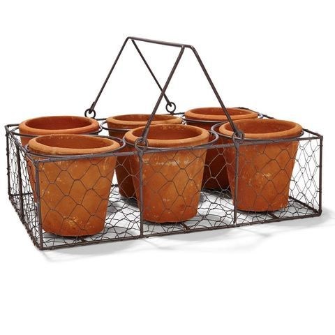 Wire Basket with Pots Set