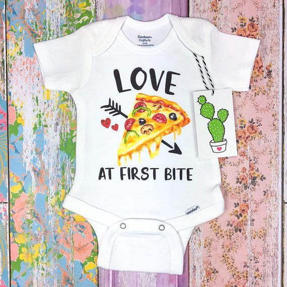 Pizza Princess Girls Romper Vest Baby Grow