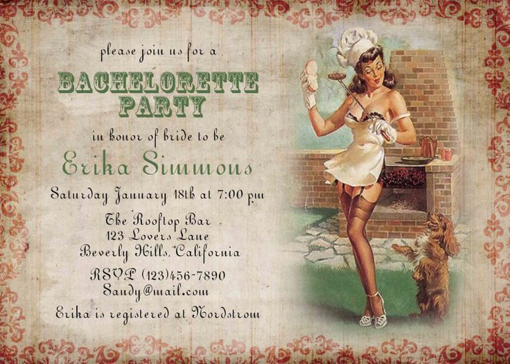 32 best Bachelorette Party invitations images – Vintage Bachelorette Party Invitations