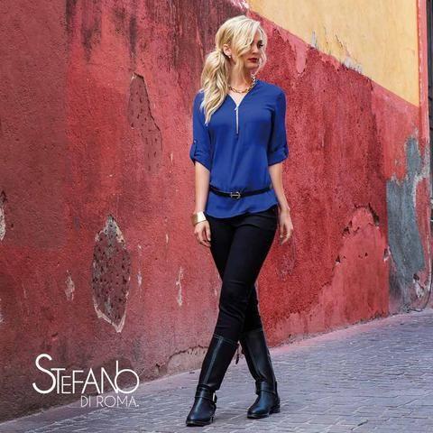 Imagen de blusa para dama en color azul rey