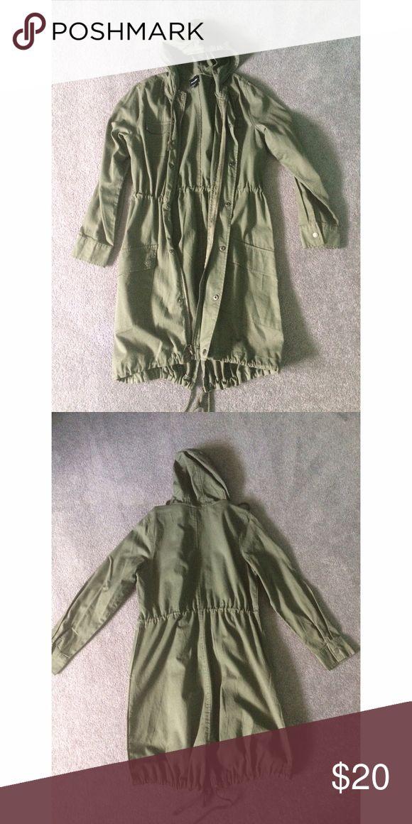Selling this Olive Green Utility Jacket on Poshmark! My username is: megconroy. #shopmycloset #poshmark #fashion #shopping #style #forsale #Joe Boxer #Jackets & Blazers