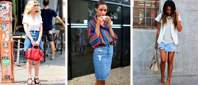 Mοντέρνες street style εμφανίσεις με μία denim φούστα!