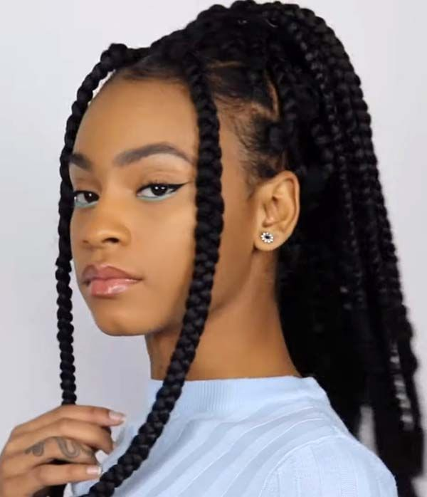 Simple Braided Hairstyles For African American Women Womenhairstyles Braided Hairstyles Hair Styles Braided Hairstyles Easy