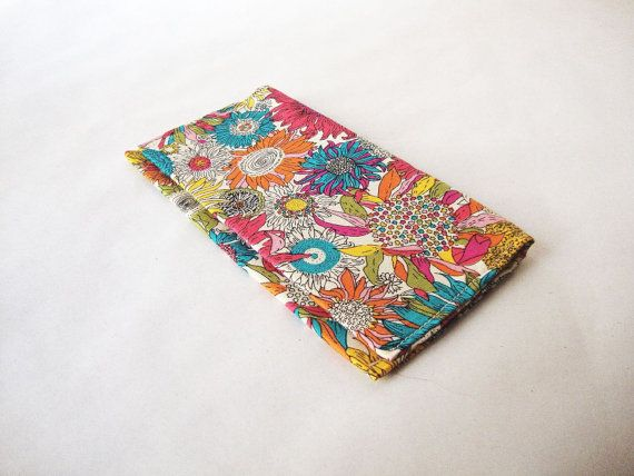 tobacco pouch  designer fabric with calico interior  by AKUGI, €12.00