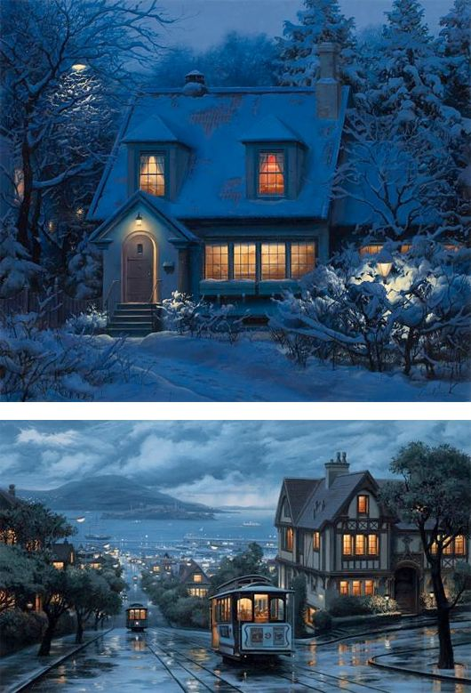 City Paintings by Eugene Lushpin