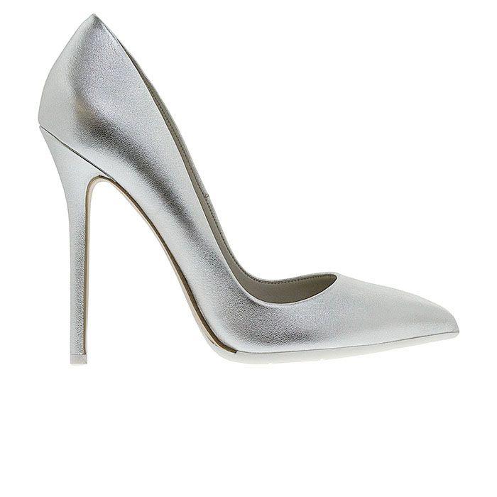 1203A00-SILVER LEATHER www.mourtzi.com #pumps #heels #mourtzi #metallics