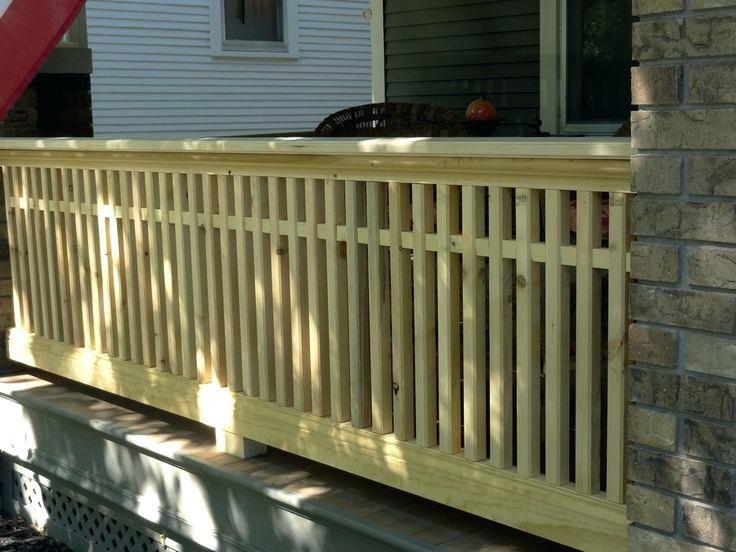 porch railing design best deck railing design ideas on ...