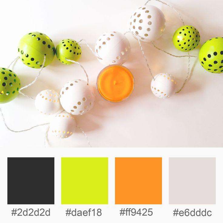 Colours Inspiration – Black, Lime, Orange, Beige