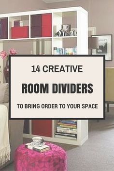 Room dividers are an easy and decorative solution for areas that need just a little more space. Here's an idea that is perfect for a studio apartment or even an open floor plan. There are plenty of other great storage boosting ideas at the link.
