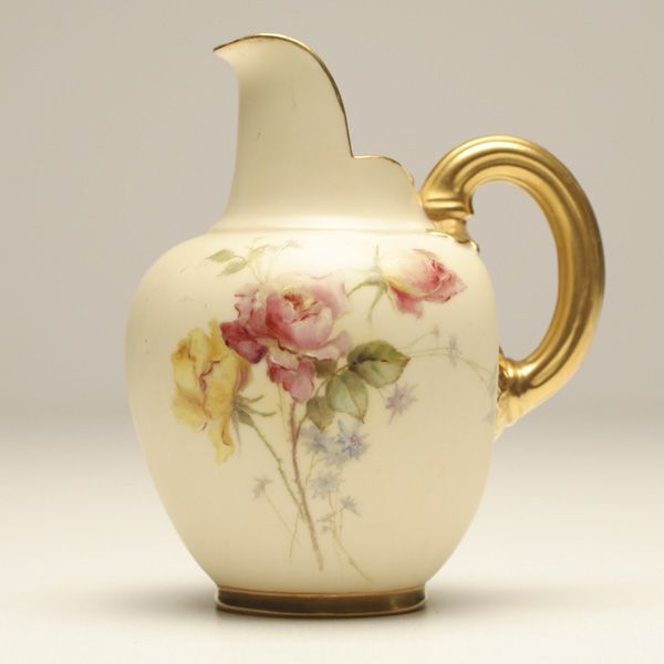 Royal Worcester porcelain hand painted milk cream pitcher  gilt ribbed  handle  Staffordshire ink. 182 best STAFFORDSHIRE FOR YOUR ARTISTIC SIDE TO ENJOY images on