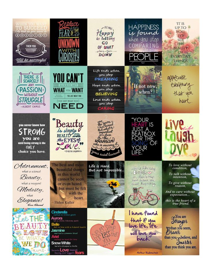 Inspirational Quotes Stickers (Set 2) for Erin Condren Life Planner Digital file